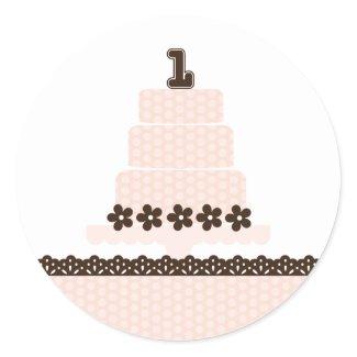 First Birthday! Cupcake Topper/Sticker sticker