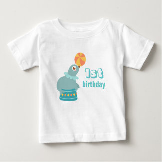First Birthday - Cute Circus Sea Lion Baby T-Shirt