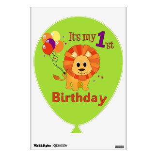 First Birthday Cute Jungle Lion Wall Sticker