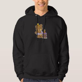 first birthday cute teddy bear design hoodie