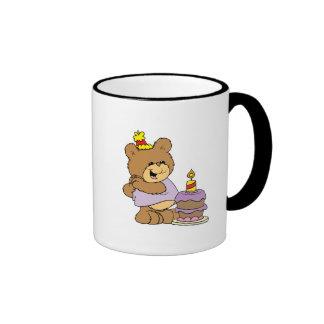 first birthday cute teddy bear design coffee mug