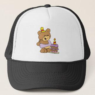 first birthday cute teddy bear design trucker hat