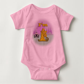 First Birthday Fairytale Princess Baby Bodysuit