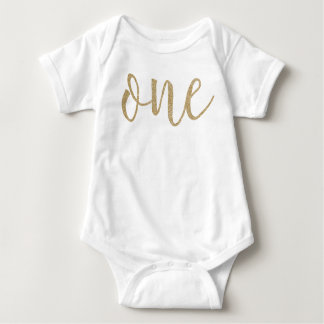 First Birthday Faux Glitter Shirt