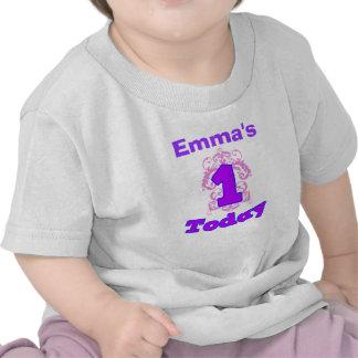 First Birthday Girl Flourish Shirt