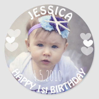 First Birthday Girl Sticker