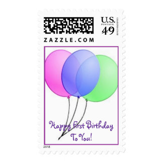 First Birthday Greetings! Postage