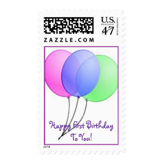 First Birthday Greetings! Stamp