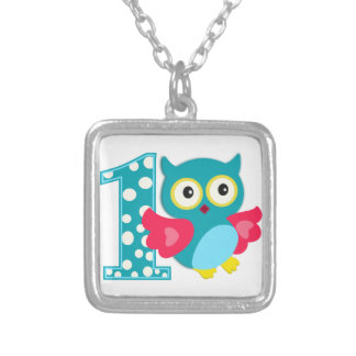 First Birthday Happy Owl Custom Necklace