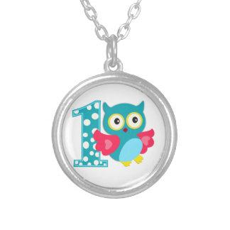 First Birthday Happy Owl Custom Jewelry