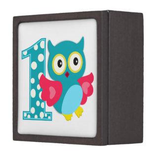 First Birthday Happy Owl Premium Trinket Box