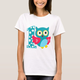 First Birthday Happy Owl T-Shirt