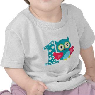 First Birthday Happy Owl T Shirts