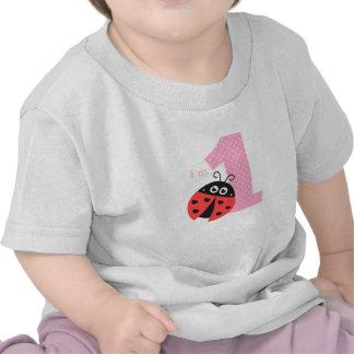 First Birthday, I'm One, Cute ladybug Shirts