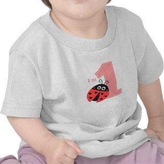 First Birthday, I'm One, Cute ladybug T Shirts
