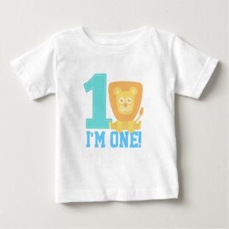 First Birthday, I'm One, Cute Lion Tee Shirt