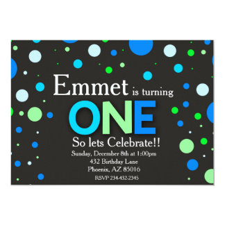 First Birthday Invitation, 1st Birthday Card
