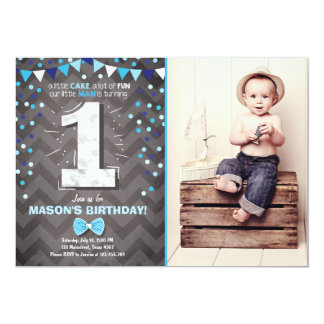 Boy First Birthday Invitations Announcements Zazzle