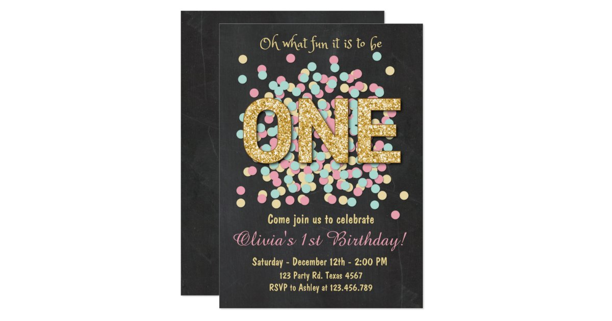 Girl First Birthday Invitations | wblqual.com