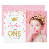60 off princess birthday invitations shop now to save zazzle first birthday invitation princess gold pink filmwisefo