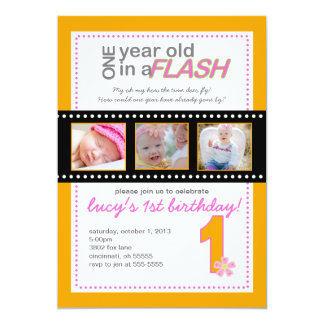 One Year Old Birthday Invitations Announcements Zazzle