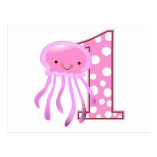 First Birthday Jellyfish Postcard