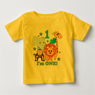 First Birthday Jungle Baby T-Shirt
