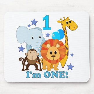 First Birthday Jungle Mouse Pad