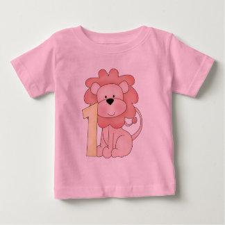 First Birthday Lion (pink) T-shirt