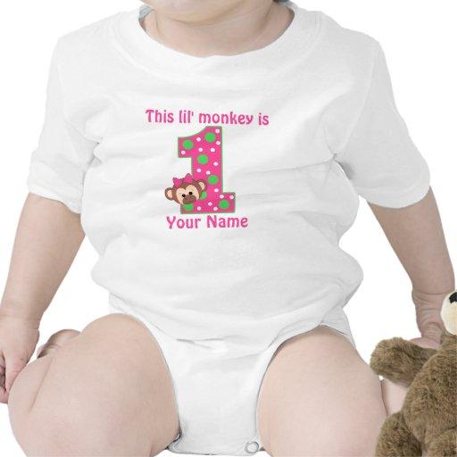 First birthday monkey personalized t-shirt
