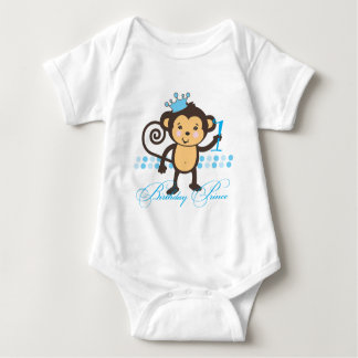 First Birthday Monkey Prince Shirt