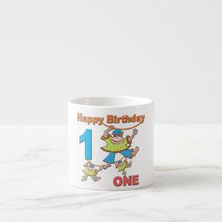 First Birthday Monkeys 6 Oz Ceramic Espresso Cup