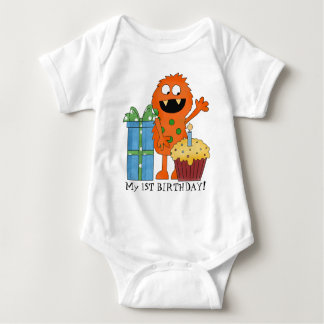 First Birthday Monster baby bodysuit