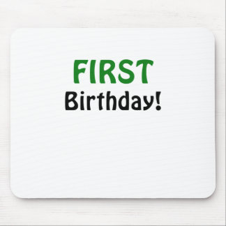 First Birthday Mousepads