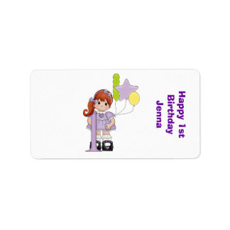 First Birthday Nugget Miniature Candy Wrapper Personalized Address Label