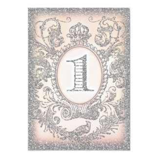 First Birthday Once Upon a Time Princess Silver Card