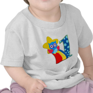 First Birthday Owl T Shirts