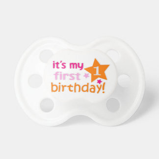 First birthday pacifier
