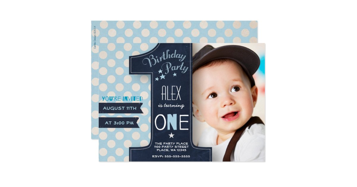 First Birthday Invitations Announcements – Invitations for First Birthday Boy