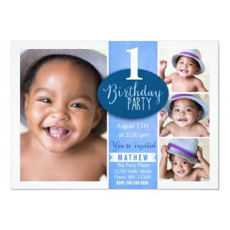 First Birthday Party Invitation Boy custom age
