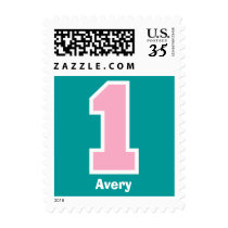 First Birthday Party PINK Big Number V005S Postage