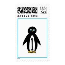 First Birthday Penguin Stamp