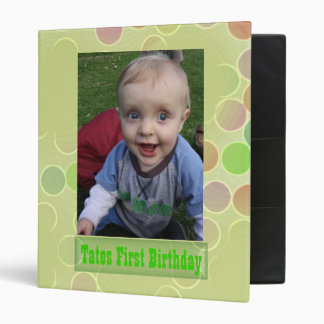 First Birthday Photo Album / Binder