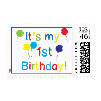 First Birthday Postage Stamp