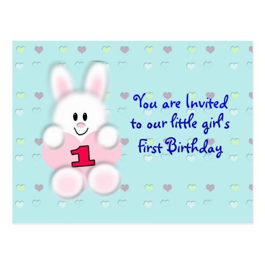 First Birthday Postcard