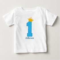 First Birthday Prince Tshirt Personalized