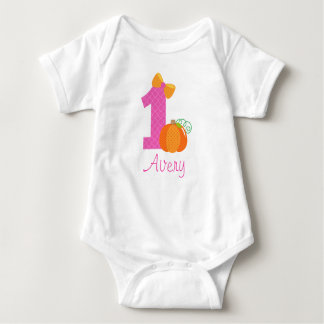 First Birthday Pumpkin Baby Bodysuit