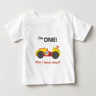 First Birthday, Race Car, Funny Text Tee Shirt