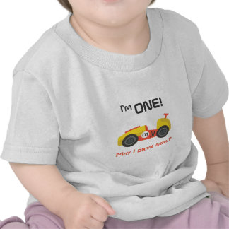 First Birthday Race Car Funny Text T Shirts