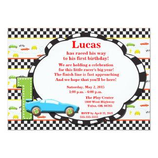 First Birthday Racecar Invitation